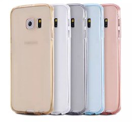 Wholesale iphone s case ultra thin TPU case transparent Silicon Soft pouch Clear in front and back cover galaxy s7 edge s6 edge plus note5