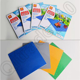 Wholesale 200pcs CCA4352 High Quality Color Kids Medium Particles Blocks Baseplates Particles Base Plate With Size cm Toys Building Block