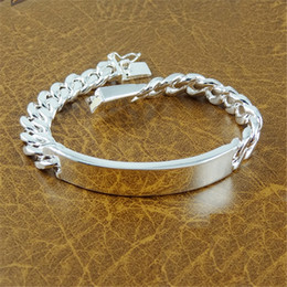 Free Shipping Sale Fashion Men jewelry Pulseras Link Chain 925 sterling silver Bracelet bangles Best gift