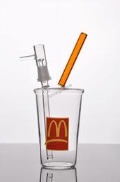 Cheap Free Ship McDonald's Dans N OUT Jack Dans La Boîte Cup Bubbler verre bong bongs tubes d'eau des plateformes pétrolières rig pipe ash dab hookah hookah tubes for sale à partir de tubes narguilé fournisseurs