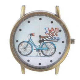 Wholesale Bronze Watch Face For Beading Classic Bicycle Pattern Watch Faces For Jewelry Making Quartz watch High Quality Watch Dial