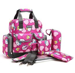 Wholesale 2016 Cute Diaper Bag Douki058 Winter Style Waterproof Nylon Pieces Baby Diaper Bag Set Hello Kitty Baby Bag Best Choice For Reseller