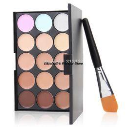Wholesale 2015 New Arrival New Colors Contour Face Cream Makeup Concealer Palette Powder Brush Cheap makeup artist eyeshadow palette