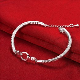 Hot sale christmas gift 925 silver Knitting pattern DFMCH414 fashion 925 sterling silver plate Chain link gemstone bracelets high grade