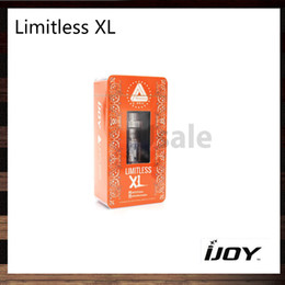 Wholesale iJoy Limitless XL RTA Tank ml Sub Ohm Atomizer ohm Light up Chip Coil with Rebuildable and Swappable Deck System Original