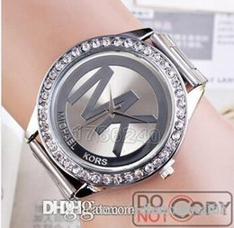 Wholesale MK Michael Kores style wristwatch watches Stainless Steel bracelet top brand luxury replicas Jewelry for men women mens MW08