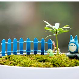 Wholesale 3x10CM DIY Ornaments Mini Wooden Fence Artificial Fence Garden Micro Landscape Terrarium Decoration Miniature Colors HY1173