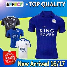 Wholesale 2017 New Leicester City VARDY home blue soccer Jersey MAHREZ DRINKWATER OKAZAKI KING Maillot de foot thailand quality football shirt