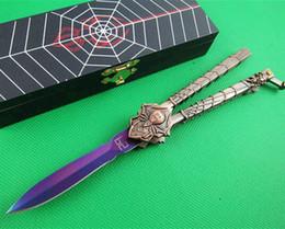 Araignées noires en Ligne-SPIDER C50 29 Black Widow couteau flail couteau de libre-swinging camping couchage de camping de chasse survivre couteau cadeau boîte et la gaine 1pcs