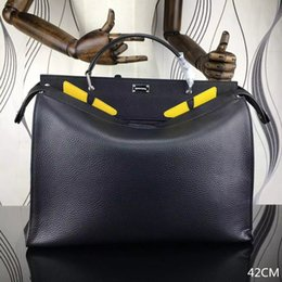 Wholesale Famous Brand SELLERIA PEEKABOO Monster Handbags Luxury Litchi Grain Leather Shoulder Bag Fashion Men Designer High Quality Crossbody Bag