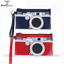 Creative camera pencil case 19*12cm Leatherwear School Pencil Case Camera Stationery Bag pen case Beautiful pencil bag