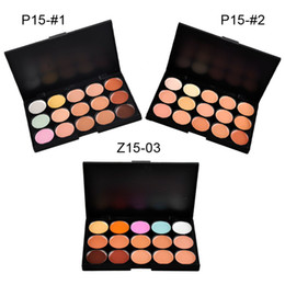 Wholesale 15 Colors Concealer Profession make up Face Cream Maquiagens Skin Concealer Palette best quality brand new