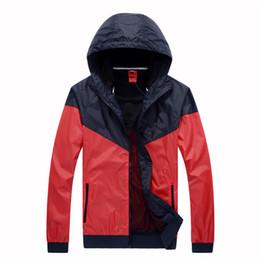 2016 brand new High Quality Men's sportswear windrunner Men sports jacket waterproof jacket Hoodie Jacket coats red