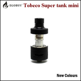 Wholesale 100 Original Newest colours Tobeco Super Tank mini ml atomizer tank replacement bvc coils Vaporizer vs gemini rafale TFV4 melo3 coils tank
