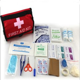 Wholesale Medical Equipment First Emergency Response First Aid Kit In Water Resistant Bag Emt Event Medics Supply Production Aid Kit Emergency Kit