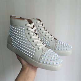 Wholesale Size Snake Leather Red Bottom Fashion Sneakers For Man and Women Unisex Luxury Brand autumn Winter Casual Shoes white