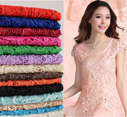 Cheap Free Shipping Tops High Quality Mix 11 Color Water Soluble 3D African Lace Venice Lace Dress Fabrics   Wedding Dress Fabrics HY1182