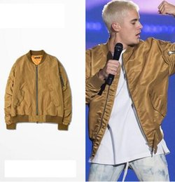Wholesale Hot Sales Fear of god justin bieber MA1 bomber jacket men hip hop Golden FOG windbreaker jacket jaqueta masculina tactical military jacket