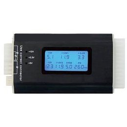 Wholesale ATX Power Supply Tester II Digital lcd display screen Voltage computer case Box power supply diagnostic tester HDD P P P CDROM SATA