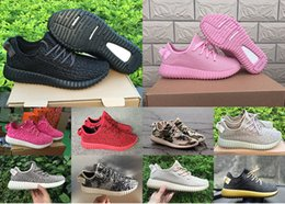 2016 or rouge 2016 Kanye West 350 Boost Chaussures noires Jaune Rouge Rose Gold Rock sportives chaussures de course Bottes Athletic espadrilles avec boîte or rouge sur la vente