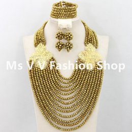 2018 New luxury 18k Gold plated flowers African gold Beads Jewelry Set Crystal jewelry set Nigerian Wedding Jewelry Set Free Shipping