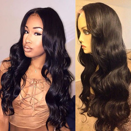 Hand Tied Human Hair Full Lace Wig 22 Inch Long Body Wave Human Hair Peruvian Full Lace Glueless Wig 130 Density Natural Color