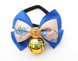 2016 Dog Collar Bow Pet Collar With Bells Puppy Choker Cat Necklace Hot Sale Pet Products Pet Accessories Bells flowers Bow