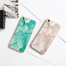 phone shell marble painted phone shell relief soft shell TPU creative art mobile phone protective cover