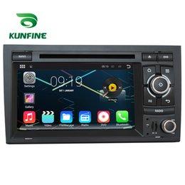 2017 consola gris Estereofonia del coche del jugador de la navegación del GPS del coche del androide 5.1.1 del cuadrángulo 1024 * 600 de la base del patio cuatro para Audi A4 S4 RS4 2002-2008 Radio 3GWifi Bluetooth consola gris en oferta