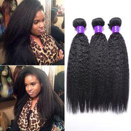 Wholesale 2016 Mongolian virgin hair kinky straight hair weave bundles raw virgin Mongolian hair extensions yaki human hair