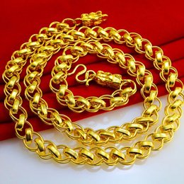 For a long time does not fade gold necklace for men and women section long simulation gold chain chain of Thailand Vietnam gold thick long g