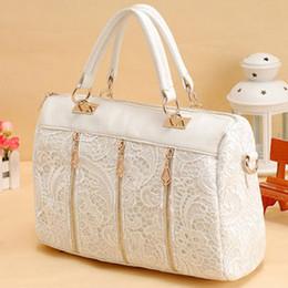 2015 Brand new lace decoration bags leather handbags wholesale handbags shoulder bag Korean fashion women messenger bag A5