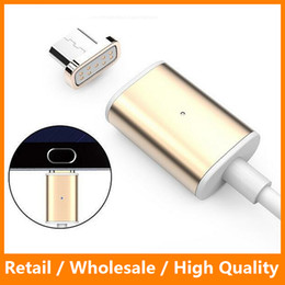 Wholesale Magnetic Charger Cable M Quick Charging LED Lighting Metal Micro USB Sync Cable Cablel for Samsung Galaxy s7 s7edge Andriod Phone