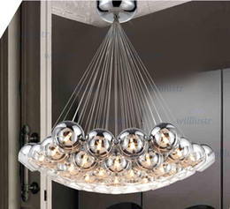 modern crystal ball lamps glass pendant lamps cluster hanging chandeliers stair lighting Hall lighting crystal chandelier pendant light