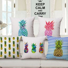 modern ananas decoration sofa chair couch throw pillows case decorative fruit pineapple cushion cover tropical cojines almofada