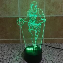 Wholesale Kobe D Illusion Light Ton LED Lamp Colors Change Art Sculpture Lights Produces Unique D Night Desk Light