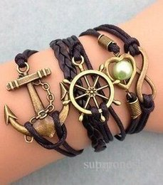Wholesale 2016 hot style source of foreign trade Europe and the United States of big shop sign multilayer woven friendship bracelets string bracelet a