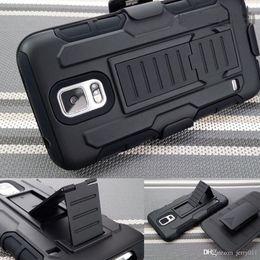 Para Funda Samsung Galaxy S5 futuro tanque de la armadura de impacto híbrido resistente cubierta del clip de la correa pata de cabra Combo Fit S i9600 V G900 Nuevo desde caso de impacto galaxy s fabricantes
