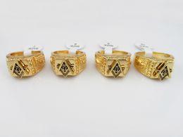 Wholesale 2016 popular Hip Hop rings Masonic ringsfor men women gold plated fashion jewelry Top Grade