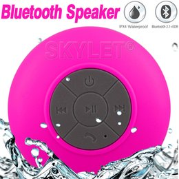 Wholesale BTS06 Waterproof Speaker Wireless Shower Handsfree Bluetooth Speakers Car Waterproof Portable mini MP3 Super Bass Receive Call Music In BOX