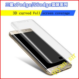Wholesale S7 edge full curve For S6 Edge Soft Explosion Proof Transparent s7 thermoformed TPU proof membrane Welcome dealers to free samples