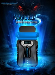 Wholesale Fashion bingmo5 Gaming strong wind laptop cooling pads adjustable wind speed low noise notebook cooler