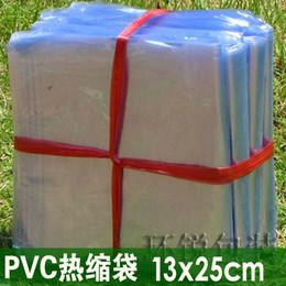 Wholesale 13x25cm pvc packing bag Pvc heat shrink shrink bag plastic pouches