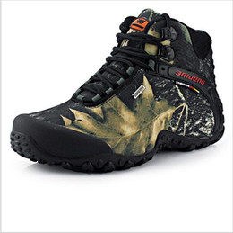 Wholesale 2016 fashion outdoor climbing hiking boots waterproof men boot new style outdoor fun mountain trekking shoes hunting boots