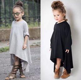 Wholesale 2016 New Girls Dress Baby Dress Children s girls princess long sleeve crochet embroidery lace dress with flower tutu dress kids clothing