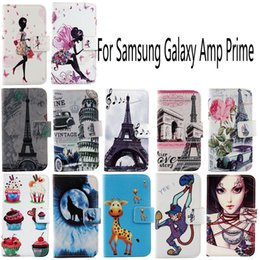 Wholesale For Samsung Galaxy Amp Prime Fashion Protective Cover Skin Pouch With Card Slot PU Leather Case Phone Case
