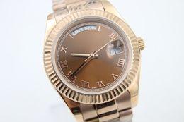 Regarder rose d'or en Ligne-Haute qualité rose doré mens nouveau arrivel Automatique montre-bracelet mécanique 41mm cadeau datedate 218238