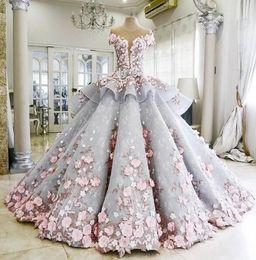 maktumang Wedding Dresses 2016 Modest Sheer Neckline Appliques Short Sleeves Bridal Dress Peplum Sheer Back Covered Button Wedding Gowns