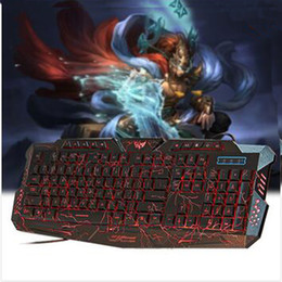 New Red purple blue Backlights Professional Gaming Keyboard PC Keyboards for Dota2 LOL Led Backlit Gaming Keyboard