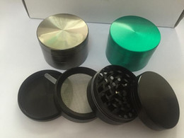 Best quality herb grinders 4 piece black chrome red colors grinders metal grinder wholesale with Pollen Scraper free shipping